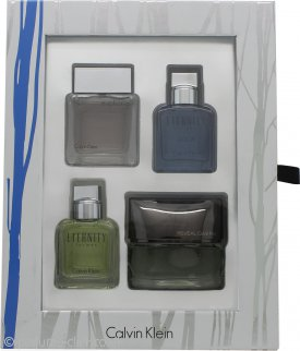 Calvin Klein Men's Mini Gift Set 15ml Eternity + 15ml Euphoria + 15ml Eternity Aqua + 15ml Reveal
