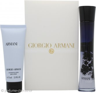 Giorgio Armani Code Gift Set 75ml EDP + 75ml Body Lotion