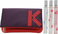 Kenzo Coffret Travel Collection Miniature Gift Set 15ml EDP Flower by Kenzo + 15ml EDT L'eau Par + 15ml EDT Kenzo Floralista