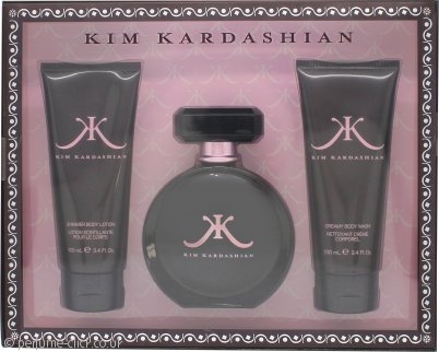 Kim Kardashian Gift Set 100ml EDP + 100ml Shower Gel + 100ml Body Lotion
