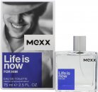 Mexx Life Is Now for Him Eau de Toilette 75ml Spray