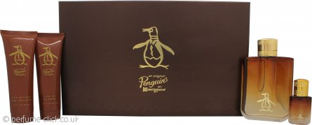 Original Penguin Gift Set 100ml EDT Spray + 90ml Aftershave Balm + 90ml Shower Gel + 7.5ml EDT Mini