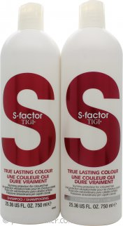 Tigi Duo Pack S-Factor True Lasting Colour 750ml Shampoo + 750ml Conditioner