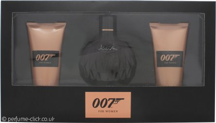 James Bond 007 for Women Gift Set 50ml EDP + 50ml Shower Gel + 50ml Body Lotion