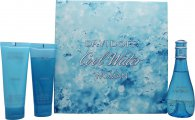 Davidoff Cool Water Gift Set 100ml EDT + 75ml Body Lotion + 75ml Shower Gel