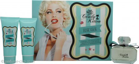 Candy Kitten Turquoise Gift Set 100ml EDT + 100ml Body Mousse + 100ml Shower Smoothie