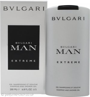 Bvlgari Man Extreme Shampoo & Shower Gel 200ml