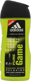 Adidas Pure Game 2 in 1 Hair & Body Shower Gel 250ml