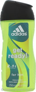 Adidas Get Ready! 2 in 1 Hair & Body Shower Gel 250ml
