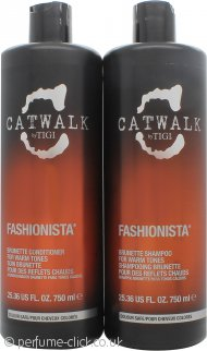 Tigi Duo Pack Catwalk Fashionista Brunette 750ml Shampoo + 750ml Conditioner