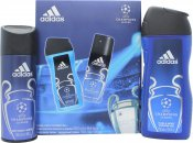 Adidas UEFA Champions League Edition Gift Set 5.1oz (150ml) Body Spray + 8.5oz (250ml) Shower Gel