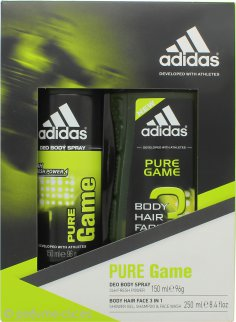 Adidas Pure Game Set de Regalo 150ml Desodorante en Vaporizador + 250ml Gel de Ducha
