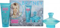 Britney Spears Curious Gift Set 100ml EDP Spray + 100ml Body Souffle
