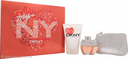 DKNY My NY Gift Set 50ml EDP Spray + 100ml Body Wash + Purse