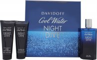 Davidoff Cool Water Night Dive Gift Set 125ml EDT + 75ml Shower Gel  + 75ml Aftershave Balm