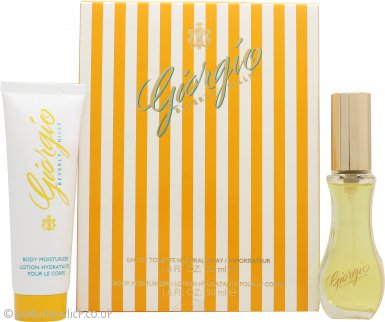 Giorgio Beverly Hills Giorgio Yellow Gift Set 30ml EDT + 50ml Body Lotion