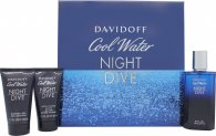 Davidoff Cool Water Night Dive Gift Set 75ml EDT + 50ml Shower Gel + 50ml Aftershave Balm