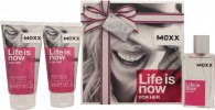 Mexx Life Is Now for Her Gift Set 30ml EDT + 2 x 50ml Body Lotion