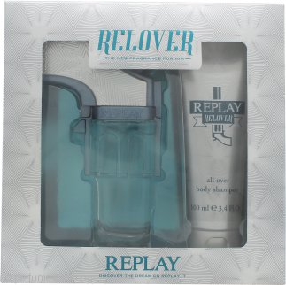 Replay Relover Gift Set 1.7oz (50ml) EDT + 3.4oz (100ml) All-Over Body Shampoo