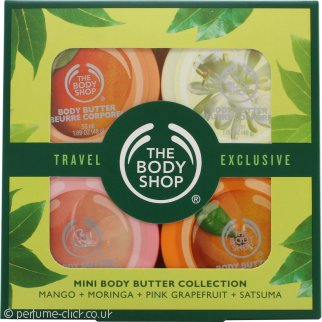 The Bodyshop Mini Body Butter Collection 4 x 50ml - Mango + Moringa + Pink Grapefruit + Satsuma