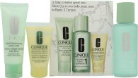 Clinique 3-Step Skincare Dry Skin Gavesett 50ml Liquid Soap + 100ml Clarrifying Lotion + 30ml Moisturizing Lotion
