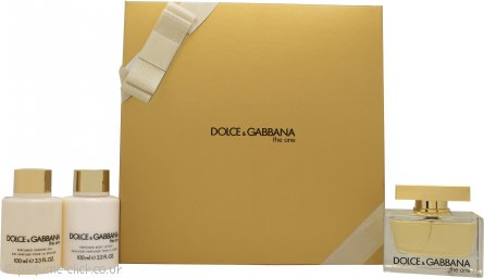 Dolce & Gabbana The One Gift Set 75ml EDP + 100ml Body Lotion + 100ml Shower Gel