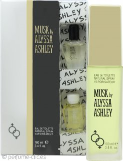 Alyssa Ashley Musk Set de Regalo 100ml EDT + 5ml Aceite Perfumado Almizcle + 5ml Aceite Perfumado Almizcle Blanco