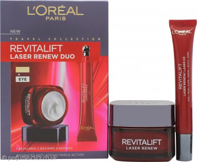 L'oreal Revitalift Laser Renew Anti-Ageing Skincare Gift Set 50ml Day Cream + 15ml Eye Cream