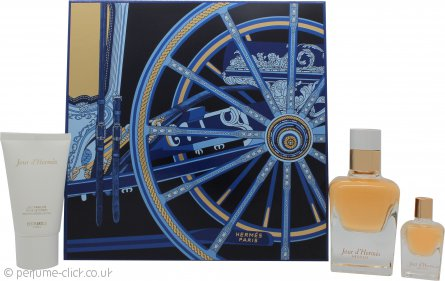 Hermes Jour d'Hermes Absolu Gift Set 50ml EDP + 30ml Body Lotion + 7.5ml EDP Purse Spray
