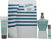 Jean Paul Gaultier Le Beau Male Geschenkset 125ml EDT Spray + 75ml Douchegel + 9ml EDT