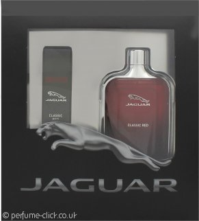 Jaguar Classic Red Gift Set 100ml EDT + 15ml EDT Travel Spray