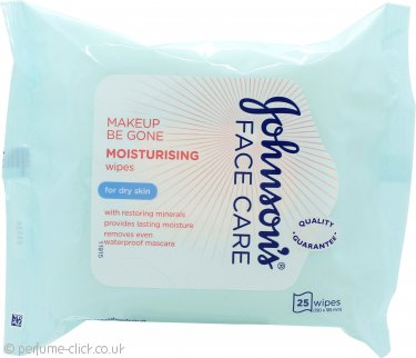 Johnson & Johnson Face Care Moisturising Facial Cleansing Wipes 25 Sheets - Dry Skin
