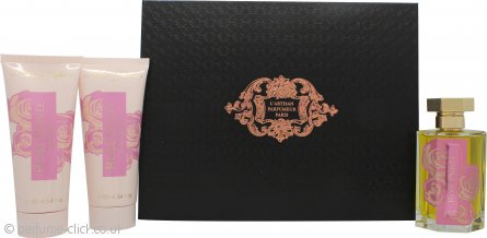 L'Artisan Rose Privée Gift Set 100ml EDP + 100ml Shower Gel + 100ml Body Lotion