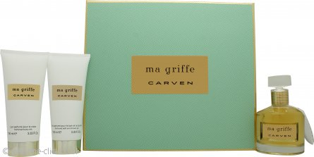Carven Ma Griffe Gift Set 100ml EDP + 100ml Bath & Body + 100ml Body Lotion
