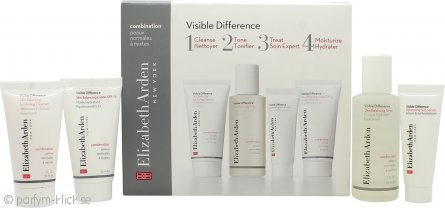Elizabeth Arden Visible Difference Starter Kit Presentset 30ml Exfoliating Cleanser + 50ml Toner + 15ml Skin Serum + 30ml Balancing Lotion - Combination Skin