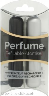 Pressit Refillable Perfume Atomiser Duo Pack - Black & Silver