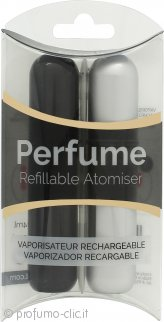 Pressit Flacone Spray Ricaricabile Duo Pack - Nero & Argentato