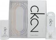 Calvin Klein CK2 Gift Set 3.4oz (100ml) EDT + 2.5oz (75ml) Deodorant Stick