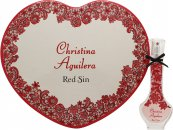Christina Aguilera Red Sin Gift Set 30ml EDP + Tin Heart Box