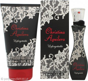 Christina Aguilera Unforgettable Gift Set 30ml EDP + 150ml Body Lotion