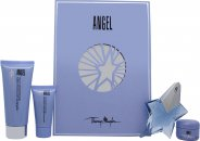Thierry Mugler Angel Gift Set 25ml EDP + 30ml Perfuming Shower Gel + 100ml Perfuming Body Lotion + 15ml Perfuming Body Cream