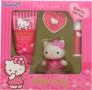 Hello Kitty Pink Love Gift Set 50ml Body Lotion + 20g Bath Fizzer + 4.5g Lip Balm