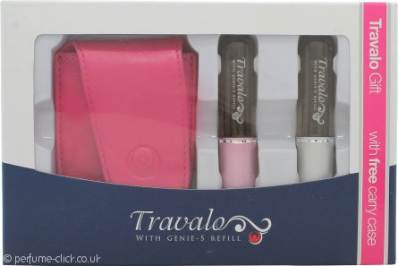 Travalo Fragrance Vaporisateur Pure Gift Set 2 x Travalo Sprays (Pink/Silver) + Carry Case