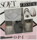 OPI Nail Polish The Look of Crystal Soft Shades Gift Set 15ml Chiffon My Mind + 15ml Black Onyx + 15ml This Silver's Mine! + Swarovski Crystals + 2g Nail Glue