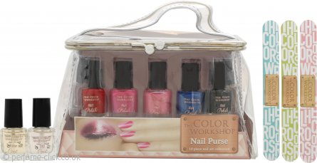 The Color Workshop Nail Art Gift Set 10 x Nail Polish + Purse