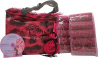 Sleep In Rollers Original Pink Gift Set 20 Rollers + Velour Pouch with Kirby Grips + Brush + DVD Tutorial