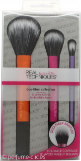 Real Techniques Duo-Fiber Collection Set de Regalo 3 x Cepillos