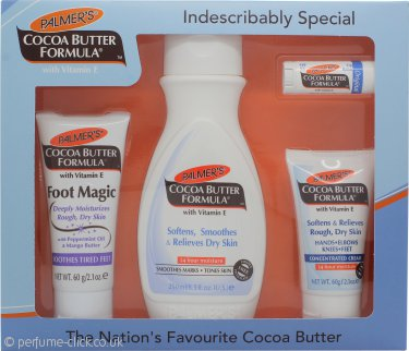 Palmer's Cocoa Butter Formula Gift Set 250ml Body Lotion + 60g Foot Magic + 60g Concentrated Cream + Lip Balm