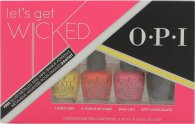 OPI Let's Get Wicked Gift Set 4 x 3.75ml Mini Nail Lacquer (I Don't Bite + A Touch of Vamp + Diva-Ush + Kitty Loves Black)