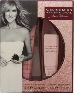 Celine Dion Sensational Luxe Blossom Gift Set 75ml Deodorant Spray + 75ml Body Lotion